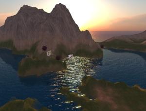 Quattro isole per meditare, in Cyberlandia