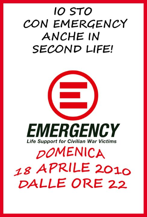 io sto con emergency anche in second life