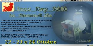 LINUX DAY ITALIA 2010  in SECOND LIFE
