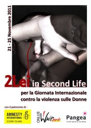 2Lei in Second Life per la Giornata Mondiale contro la violenza sulle donne